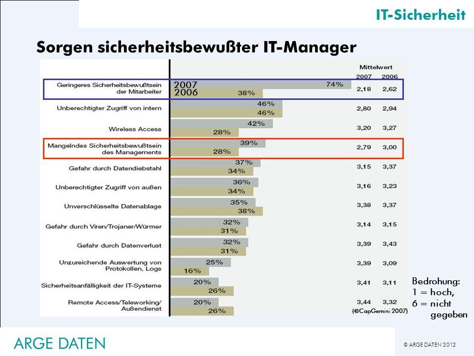 Sorgen sicherheitsbewußter IT-Manager
