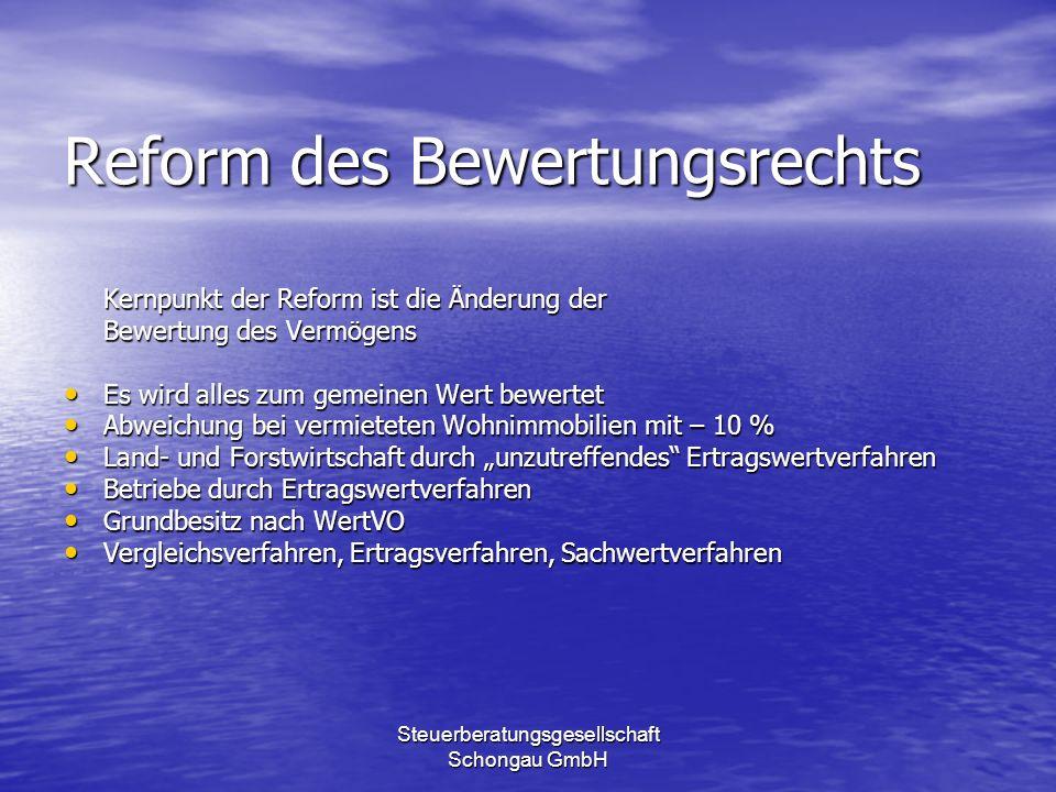 Reform des Bewertungsrechts