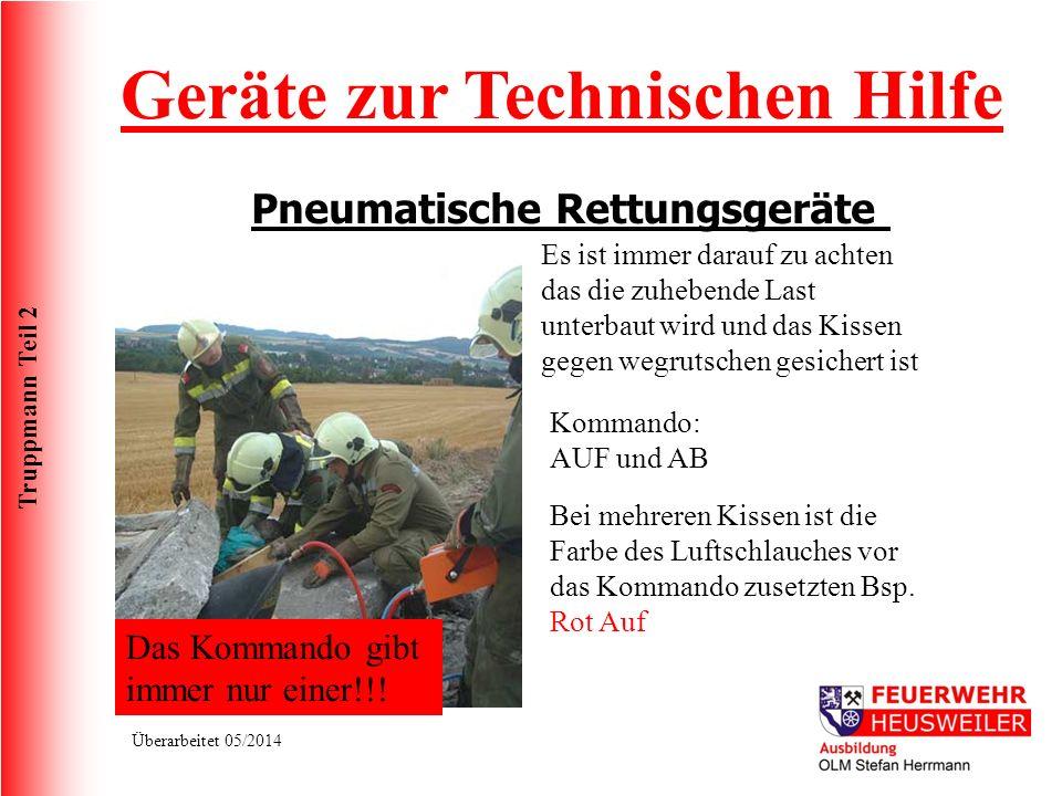 Geräte zur Technischen Hilfe Pneumatische Rettungsgeräte