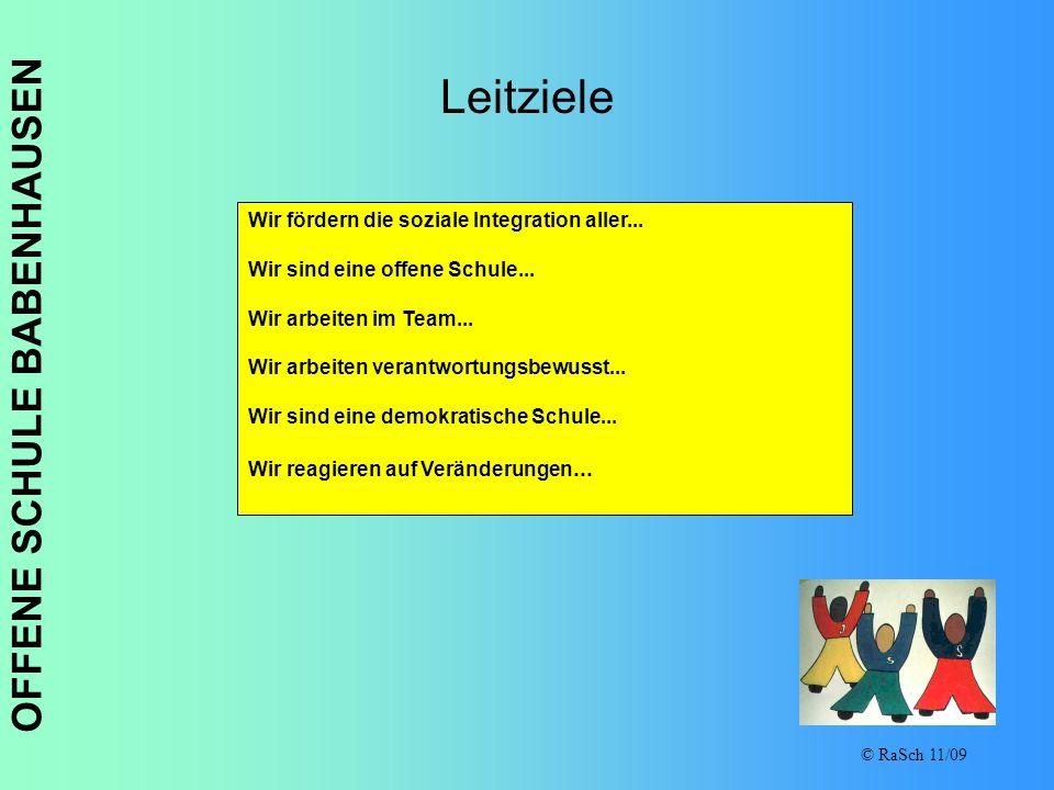 Leitziele Wir fördern die soziale Integration aller...