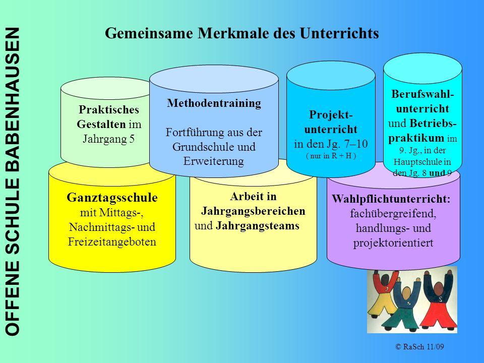 Gemeinsame Merkmale des Unterrichts Arbeit in Jahrgangsbereichen