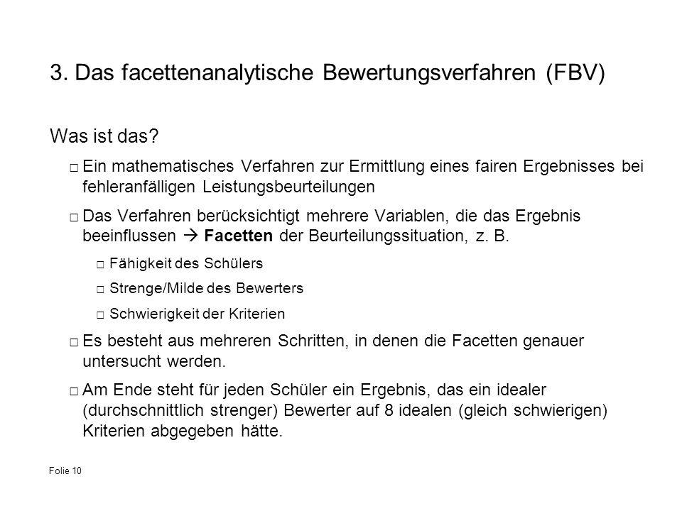 3. Das facettenanalytische Bewertungsverfahren (FBV)