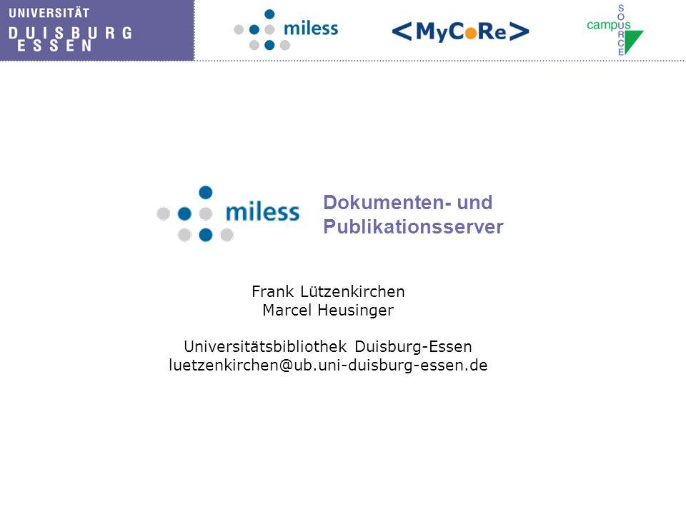 Dokumenten- und Publikationsserver