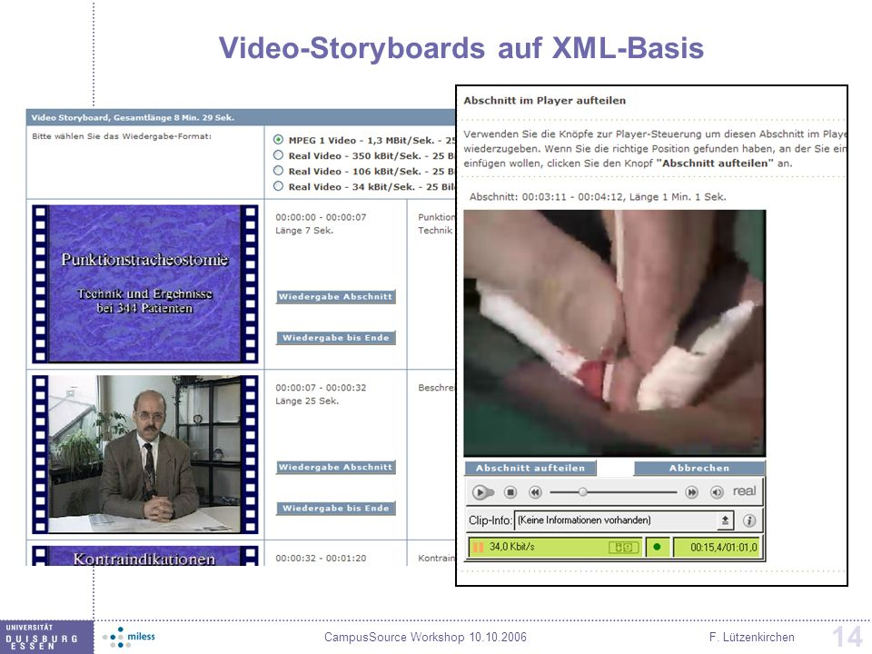 Video-Storyboards auf XML-Basis