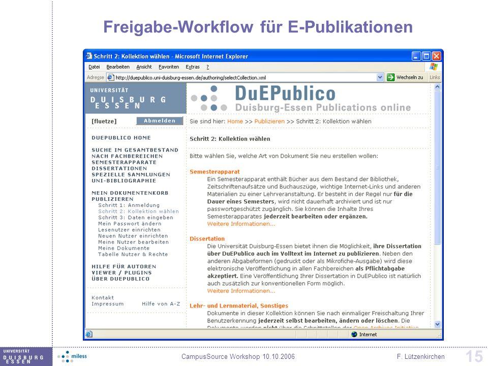 Freigabe-Workflow für E-Publikationen