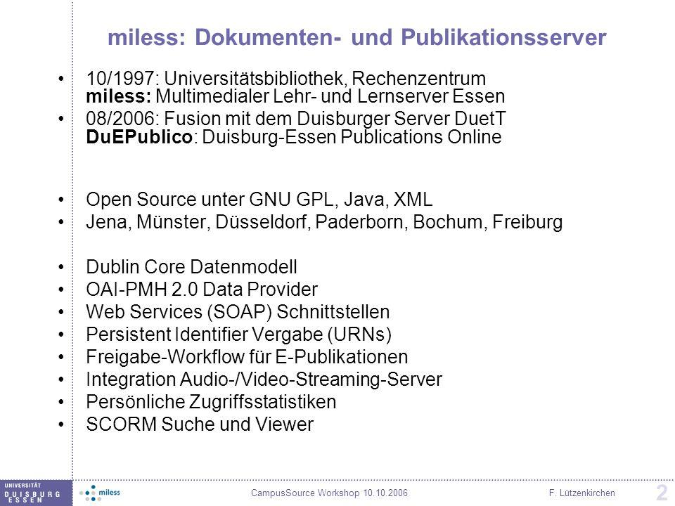 miless: Dokumenten- und Publikationsserver