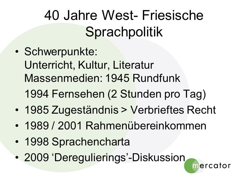 40 Jahre West- Friesische Sprachpolitik