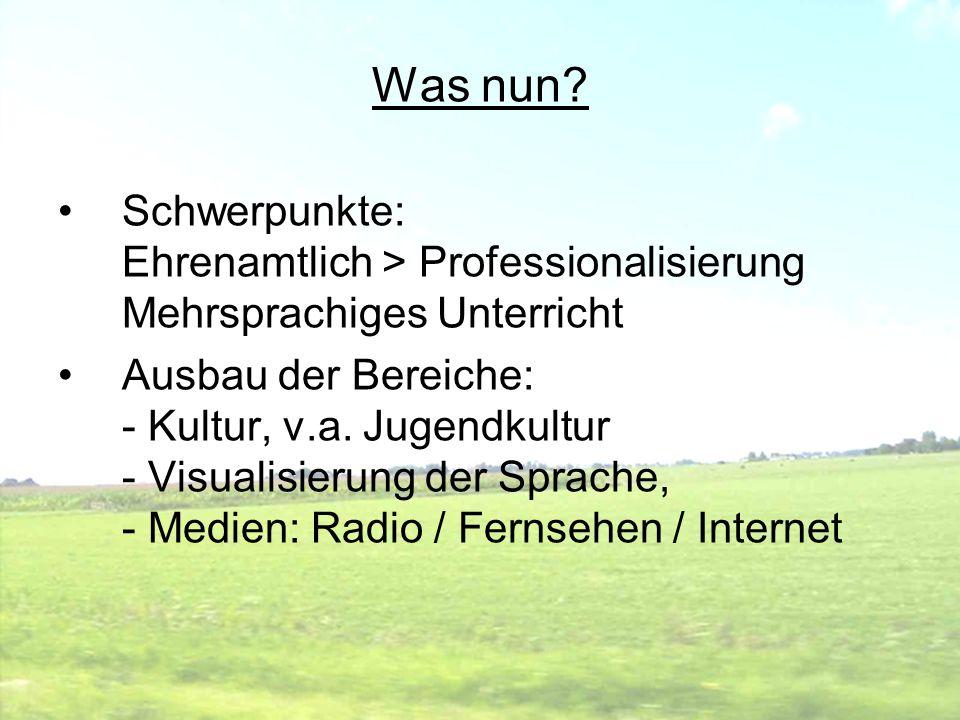 Was nun Schwerpunkte: Ehrenamtlich > Professionalisierung Mehrsprachiges Unterricht.