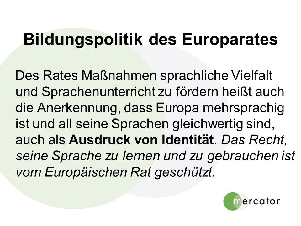 Bildungspolitik des Europarates