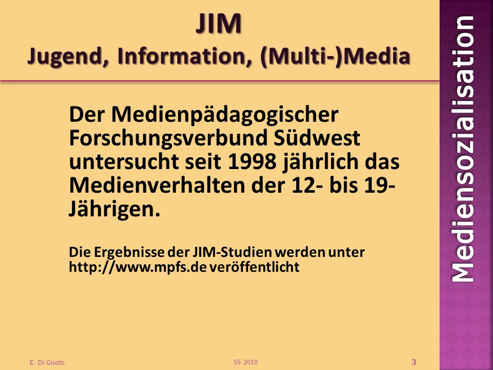 JIM Jugend, Information, (Multi-)Media