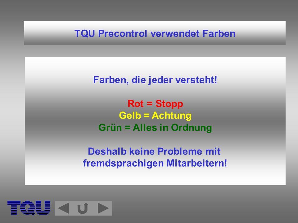 TQU Precontrol verwendet Farben