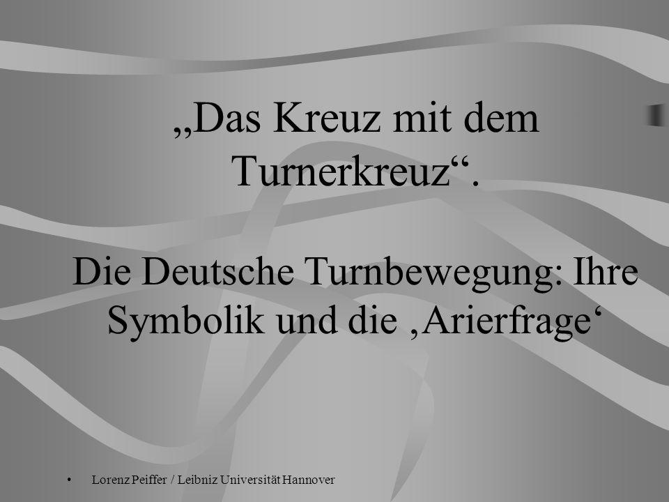 """""""Das Kreuz mit dem Turnerkreuz"""