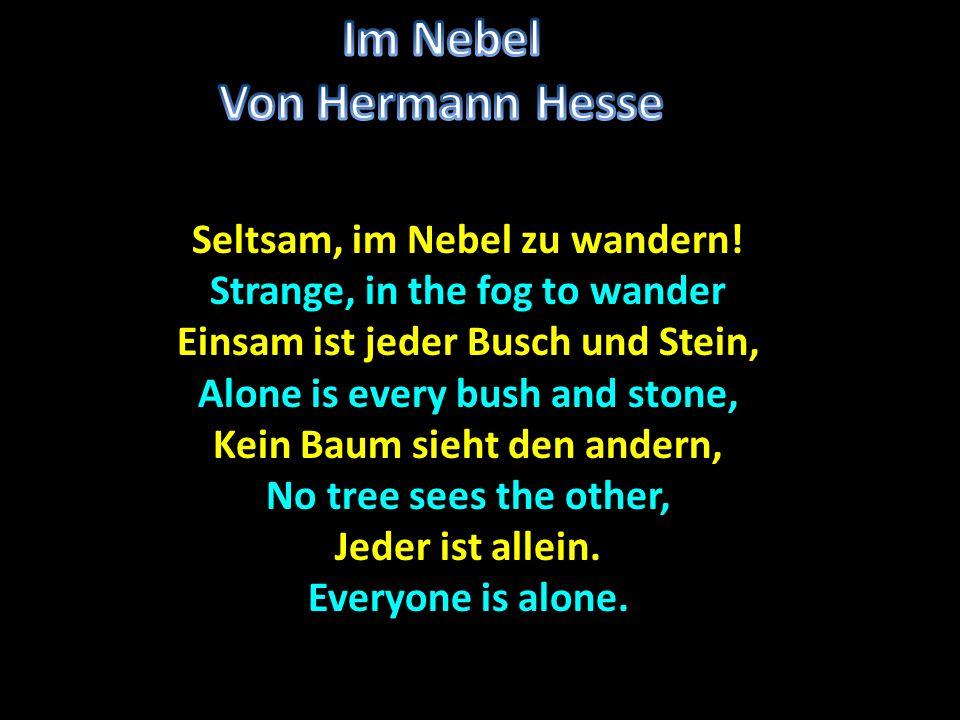 Im Nebel Von Hermann Hesse