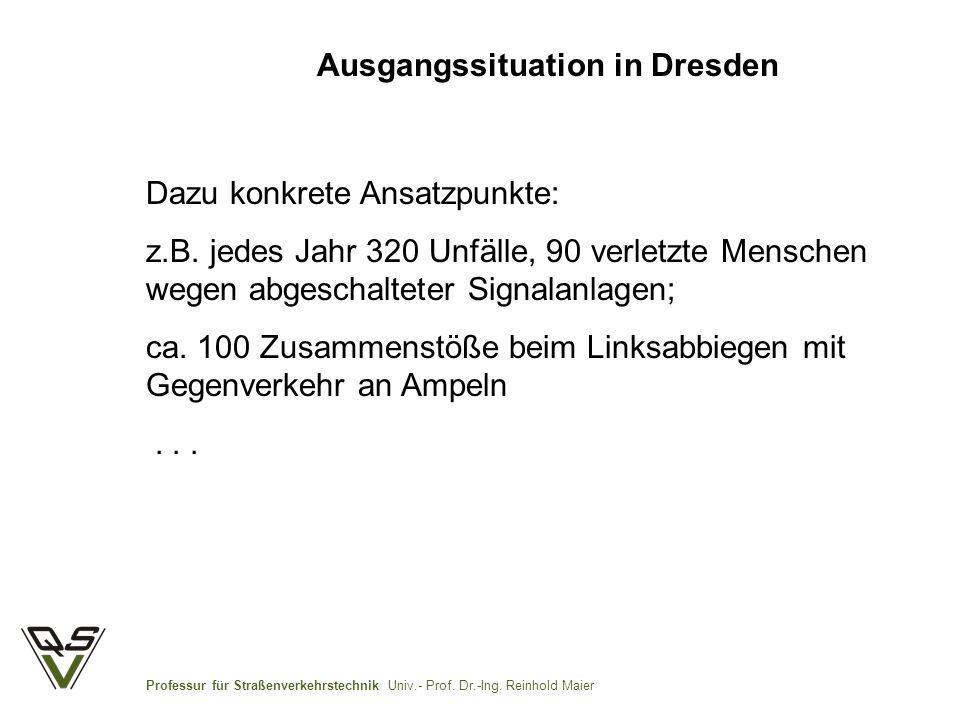 Ausgangssituation in Dresden