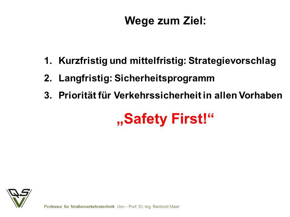"""""""Safety First! Wege zum Ziel:"""