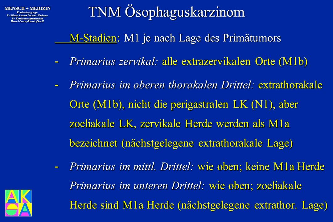 TNM Ösophaguskarzinom