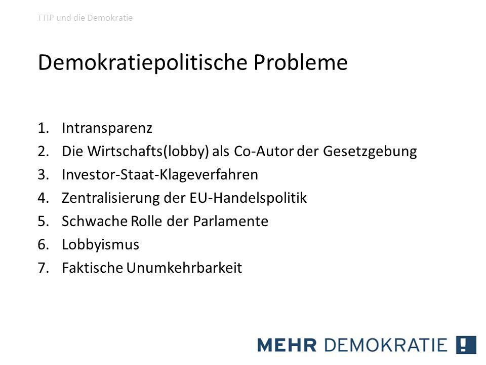 Demokratiepolitische Probleme