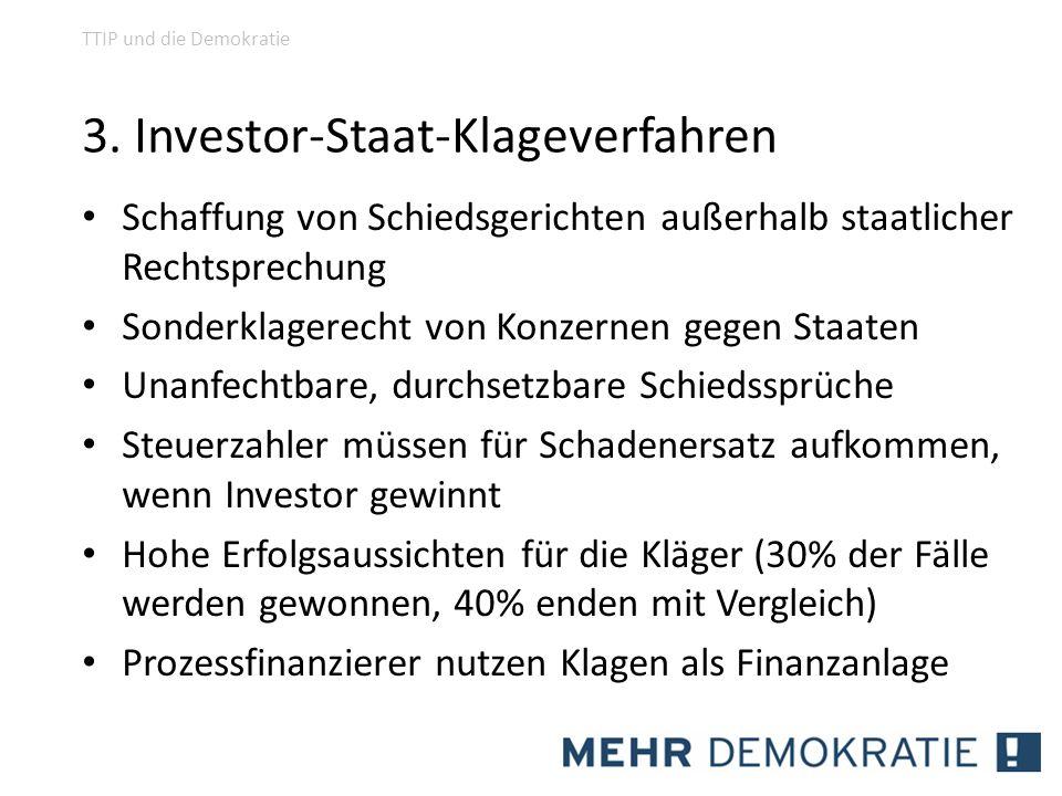 3. Investor-Staat-Klageverfahren