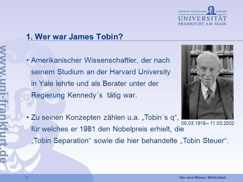 BILD 1. Wer war James Tobin