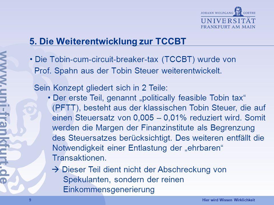 5. Die Weiterentwicklung zur TCCBT