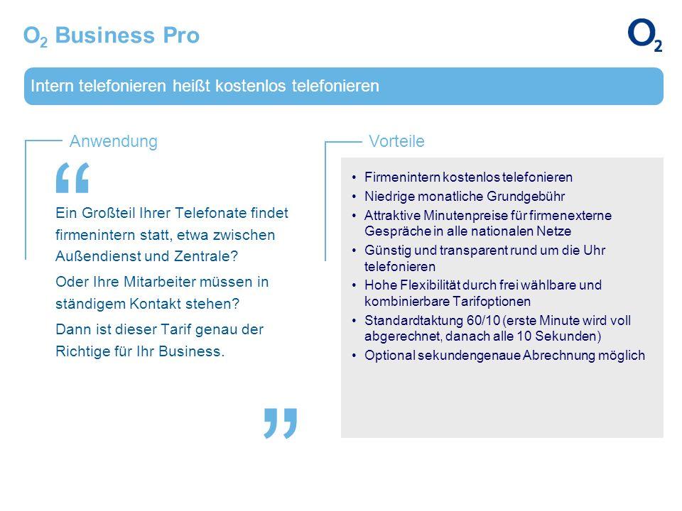 O2 Business Pro Intern telefonieren heißt kostenlos telefonieren