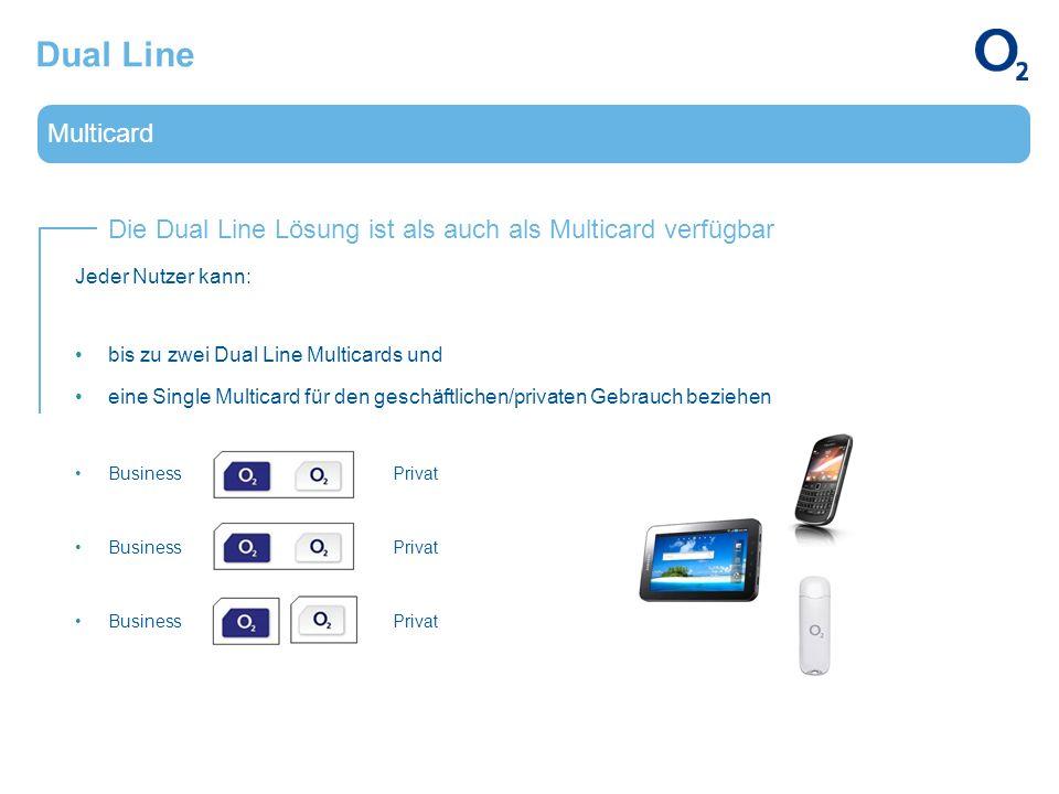Dual Line Multicard. Die Dual Line Lösung ist als auch als Multicard verfügbar. Jeder Nutzer kann: