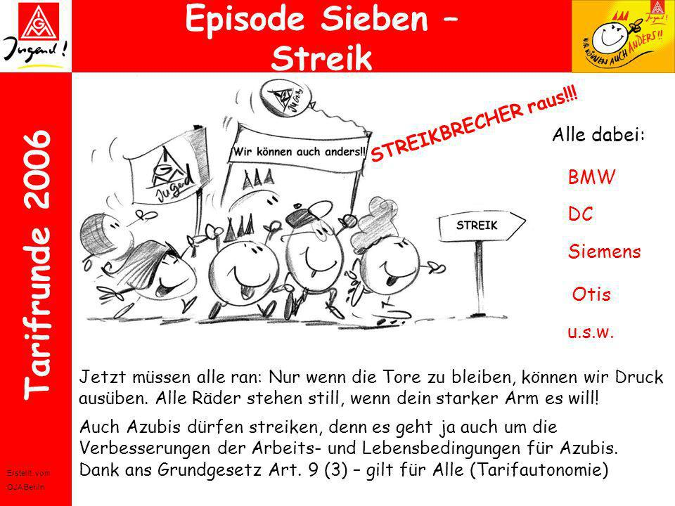 Episode Sieben – Streik