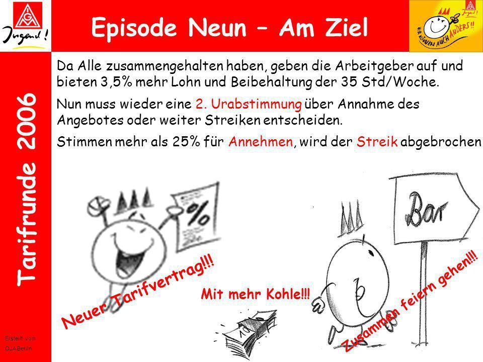 Episode Neun – Am Ziel Neuer Tarifvertrag!!!