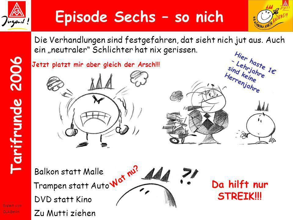 Episode Sechs – so nich Da hilft nur STREIK!!!