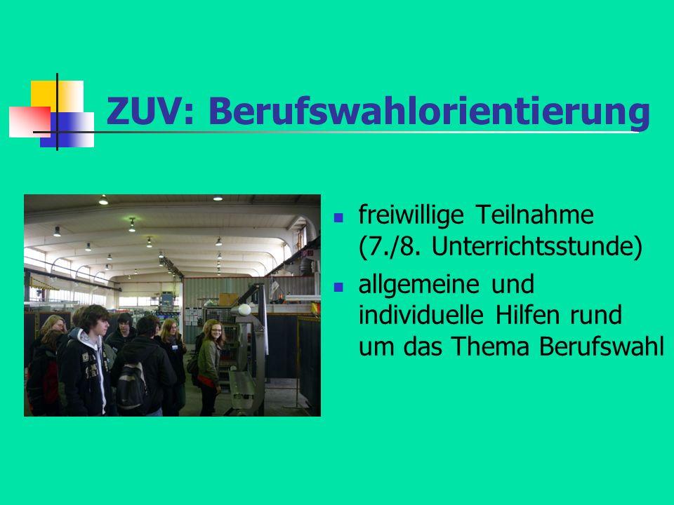 ZUV: Berufswahlorientierung