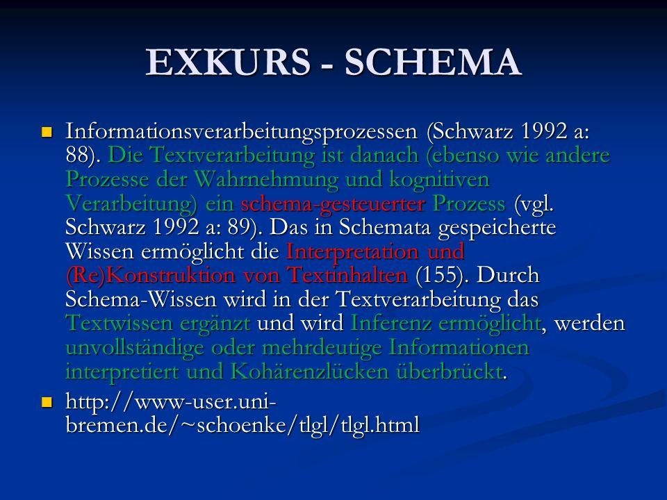 EXKURS - SCHEMA