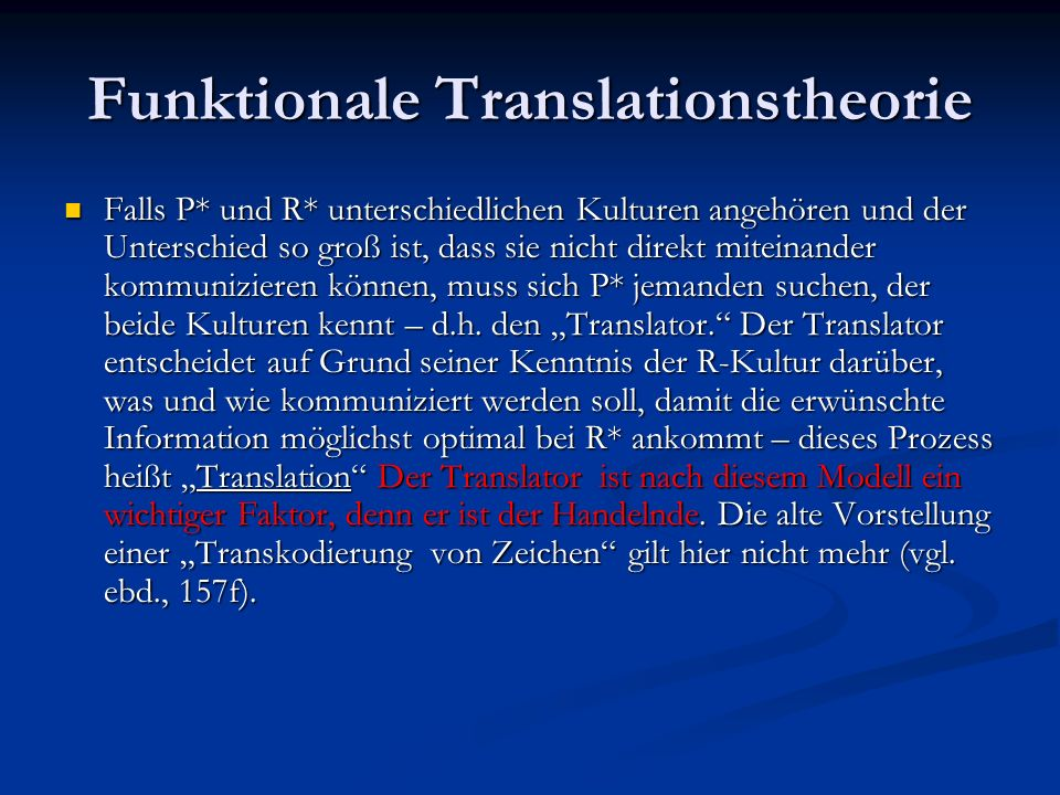 Funktionale Translationstheorie