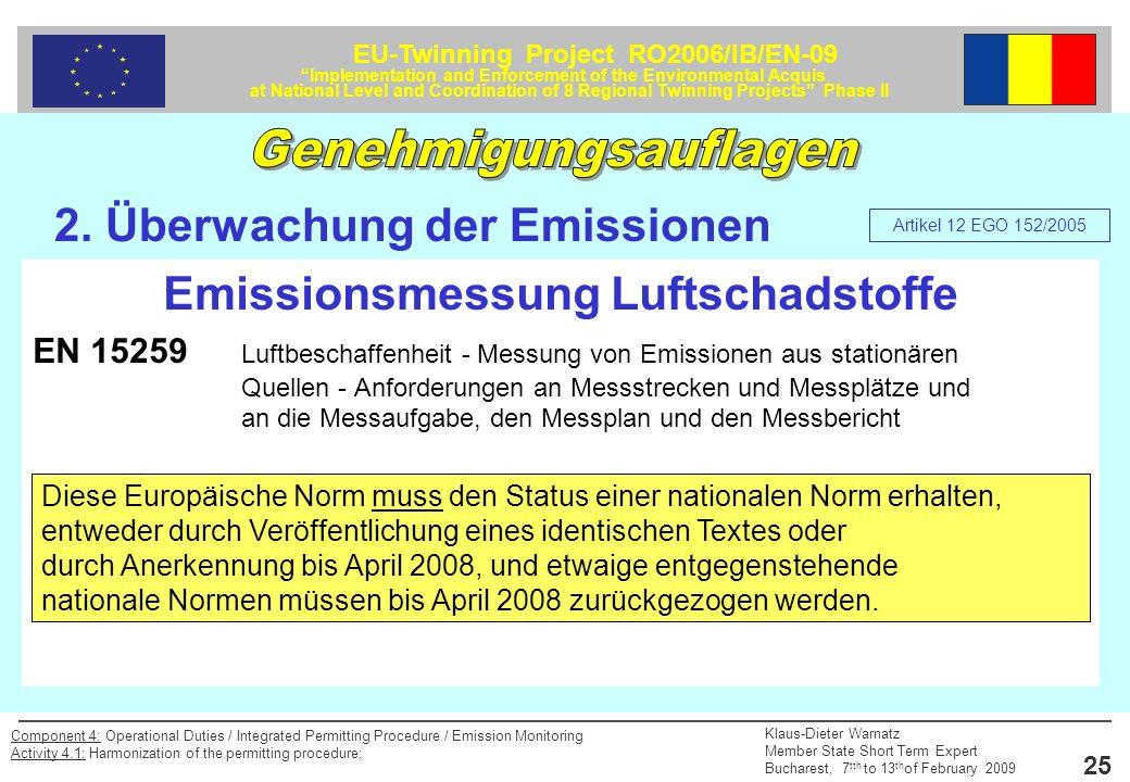 Emissionsmessung Luftschadstoffe
