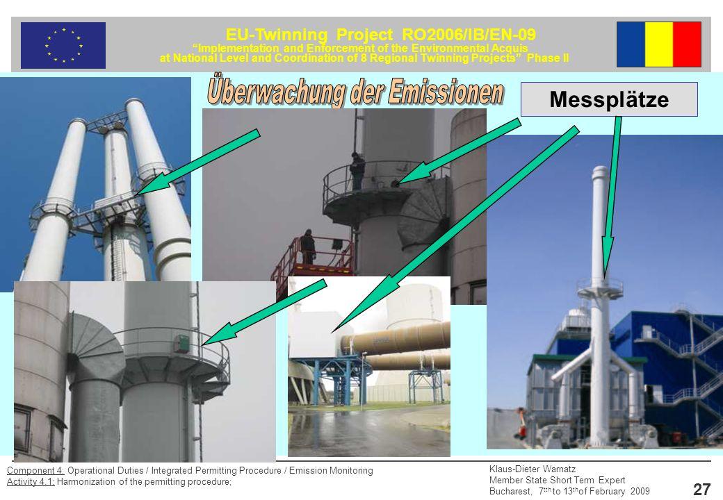 Überwachung der Emissionen