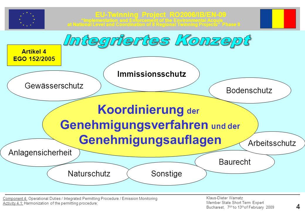 Genehmigungsverfahren und der Genehmigungsauflagen