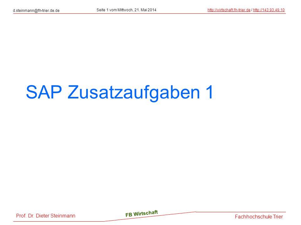 SAP Zusatzaufgaben 1