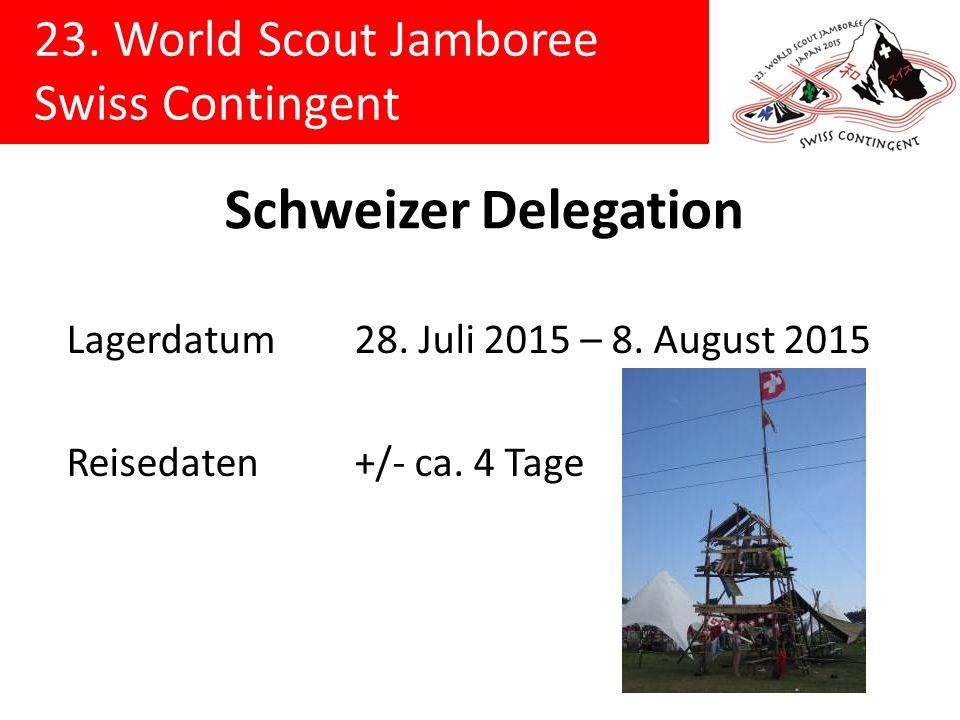 Schweizer Delegation Lagerdatum 28. Juli 2015 – 8.