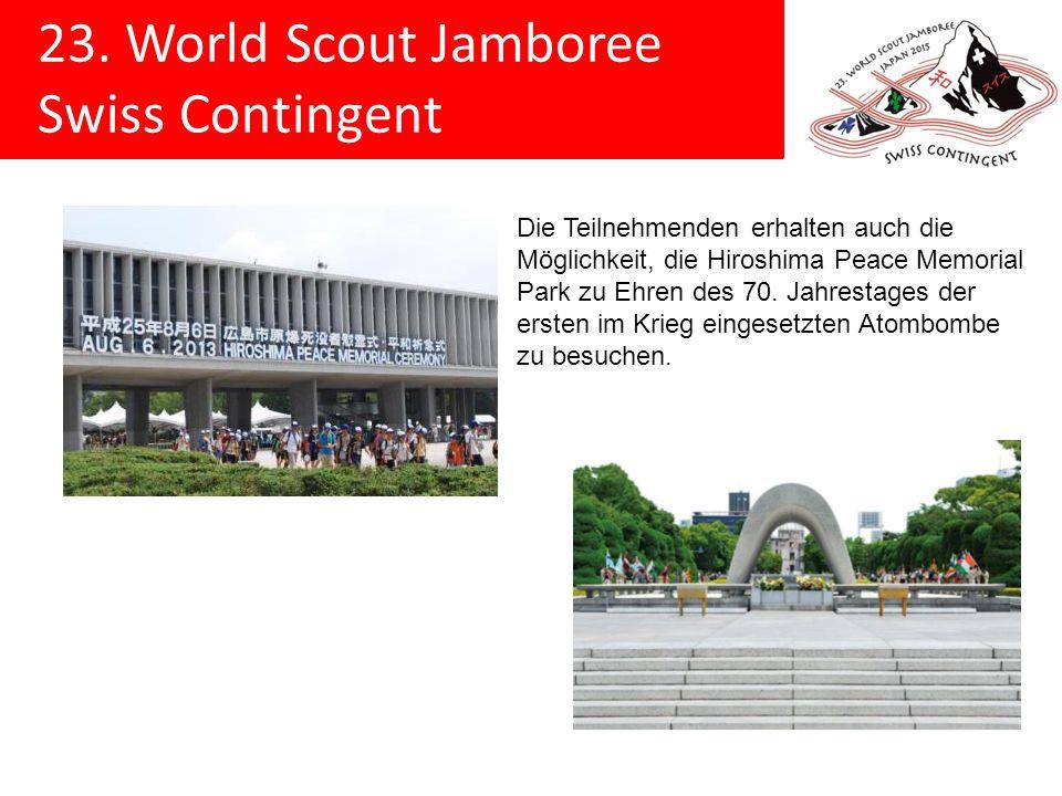 Die Teilnehmenden erhalten auch die Möglichkeit, die Hiroshima Peace Memorial Park zu Ehren des 70.