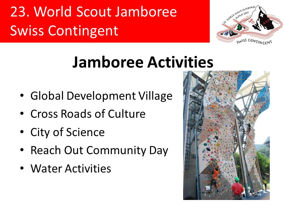 Jamboree Activities Global Development Village Cross Roads of Culture