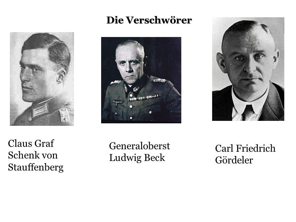 Die Verschwörer Claus Graf Schenk von Stauffenberg.