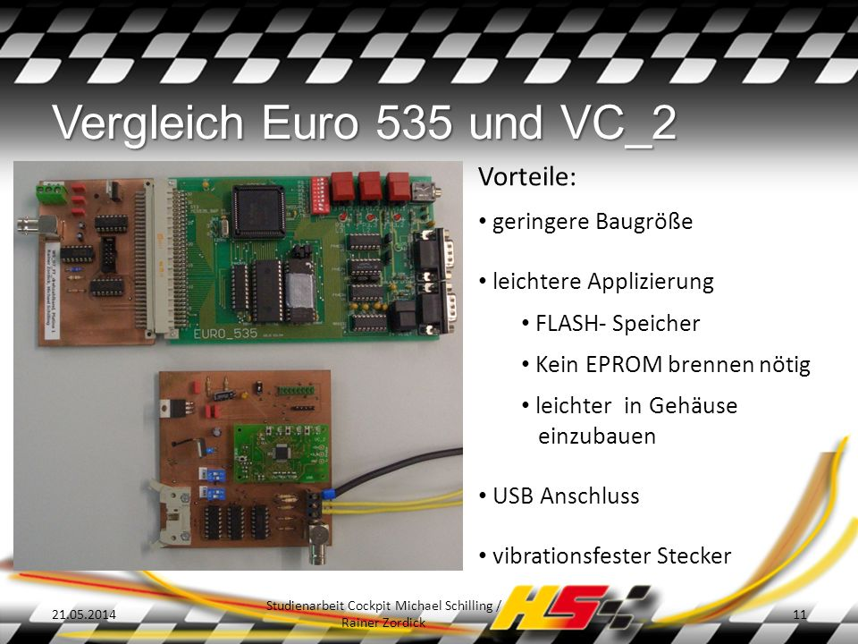 Studienarbeit Cockpit Michael Schilling / Rainer Zordick