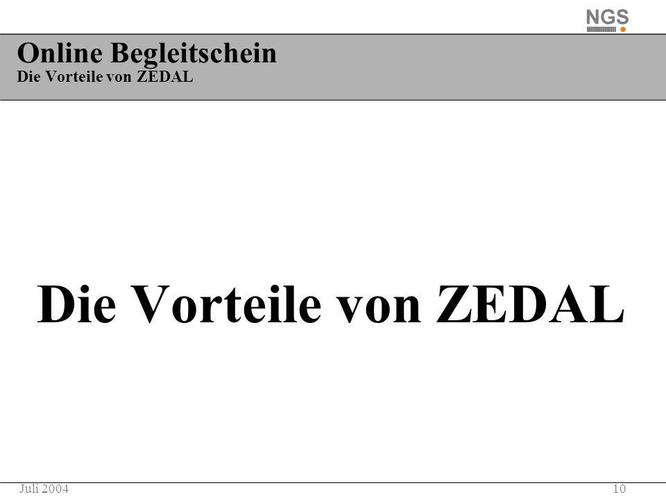 Online Begleitschein Die Vorteile von ZEDAL