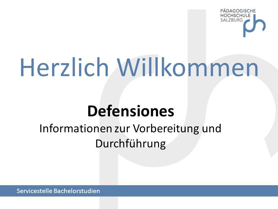 Defensiones Informationen zur Vorbereitung und Durchführung