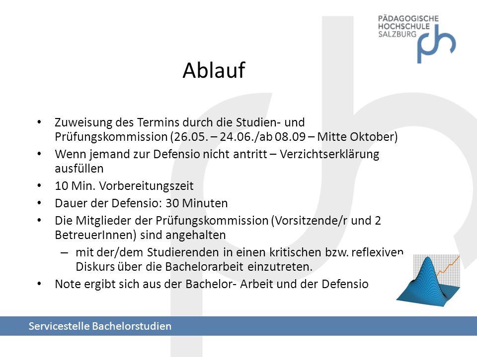 Ablauf Zuweisung des Termins durch die Studien- und Prüfungskommission (26.05. – 24.06./ab 08.09 – Mitte Oktober)