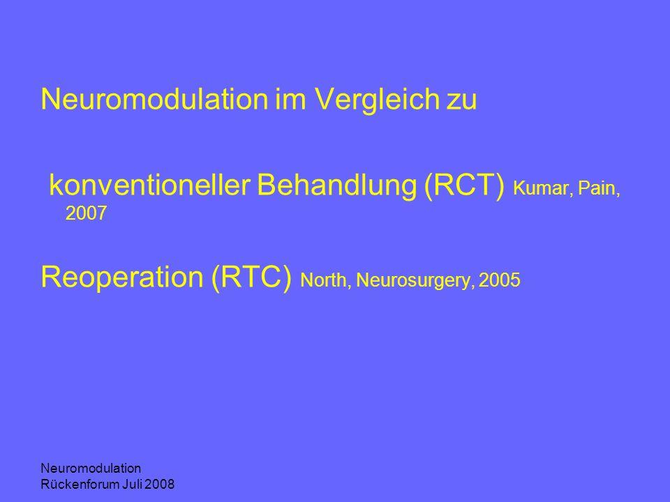 Neuromodulation im Vergleich zu