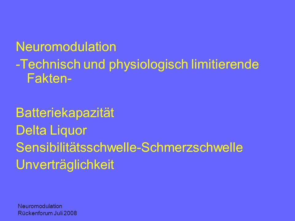 -Technisch und physiologisch limitierende Fakten-