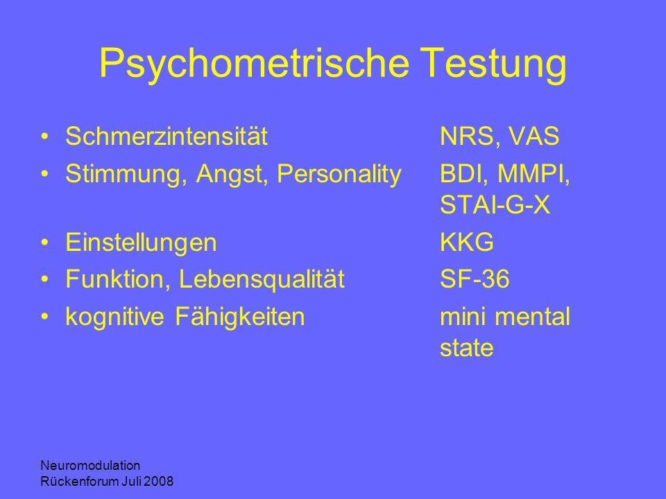Psychometrische Testung