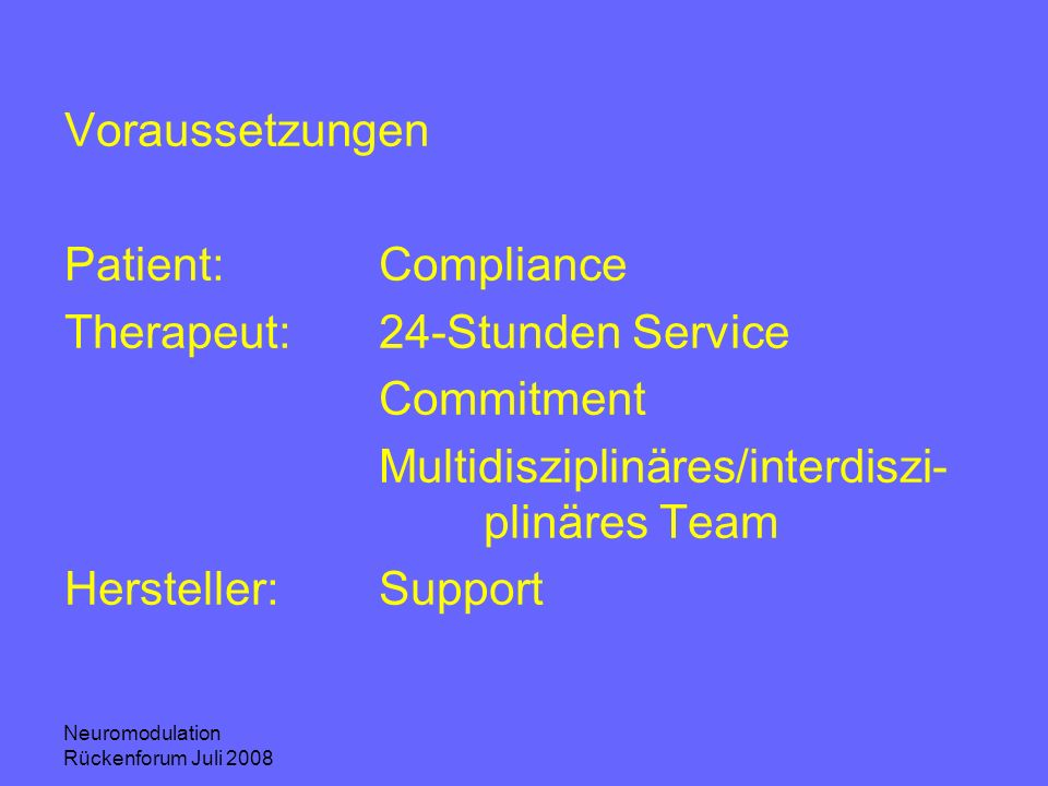 Therapeut: 24-Stunden Service Commitment
