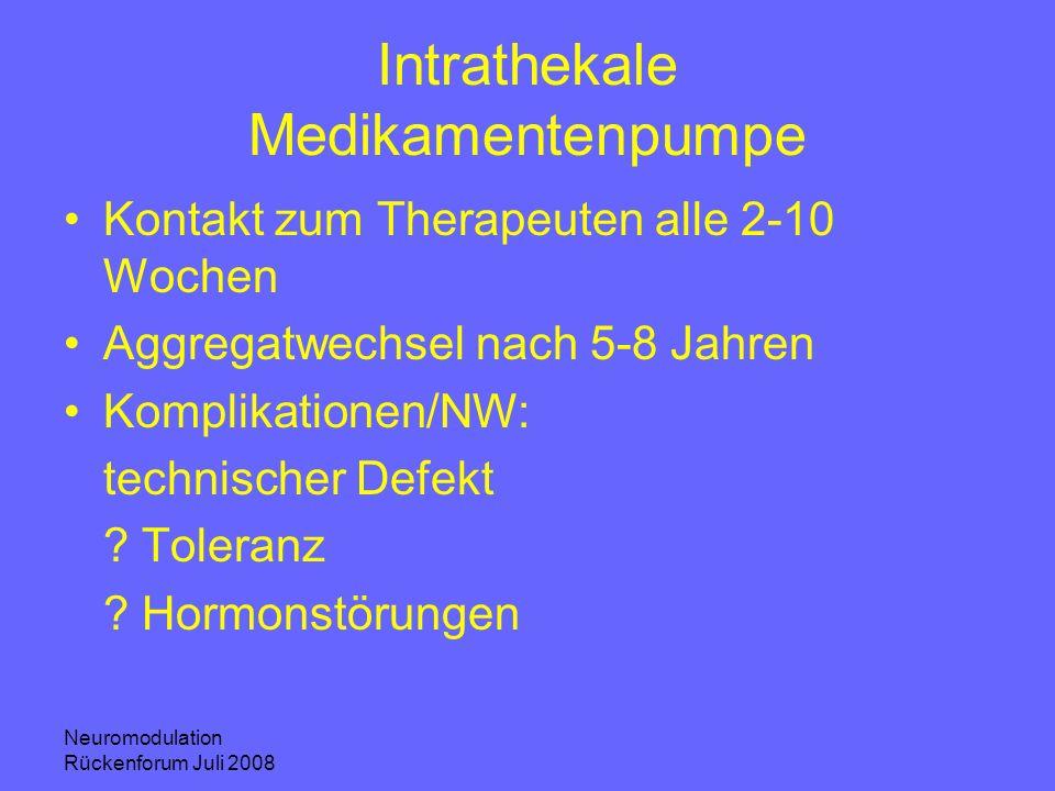 Intrathekale Medikamentenpumpe