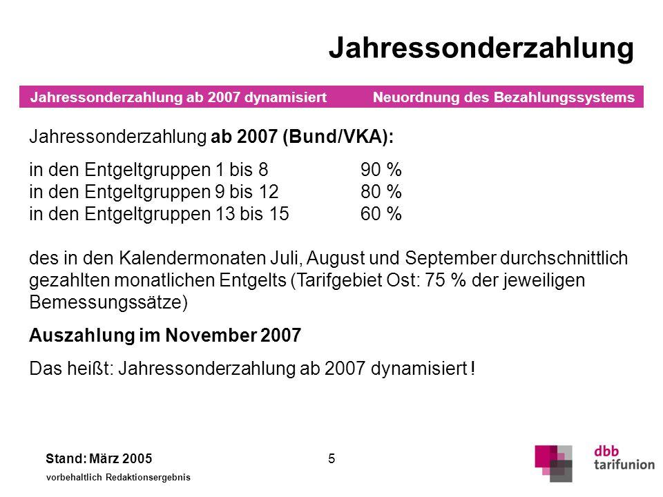 Tabelle VKA VKA ab 1.10.2005